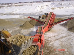 Dolomite production in dry way during the cold time.